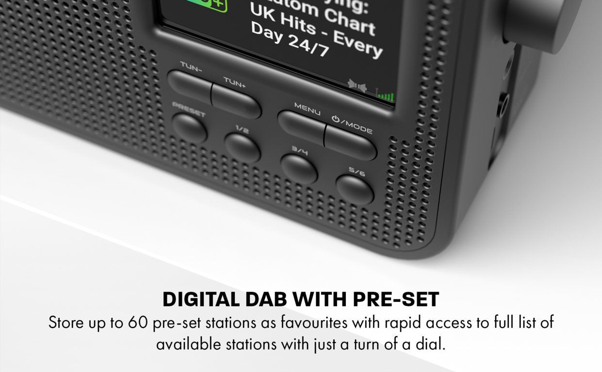 Aspire G1 DAB+ Digital and FM Radio With Bluetooth