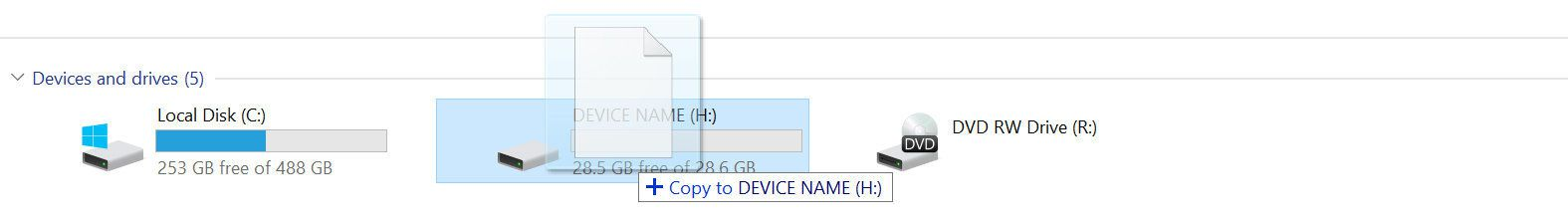 Copy the Firmware to the device