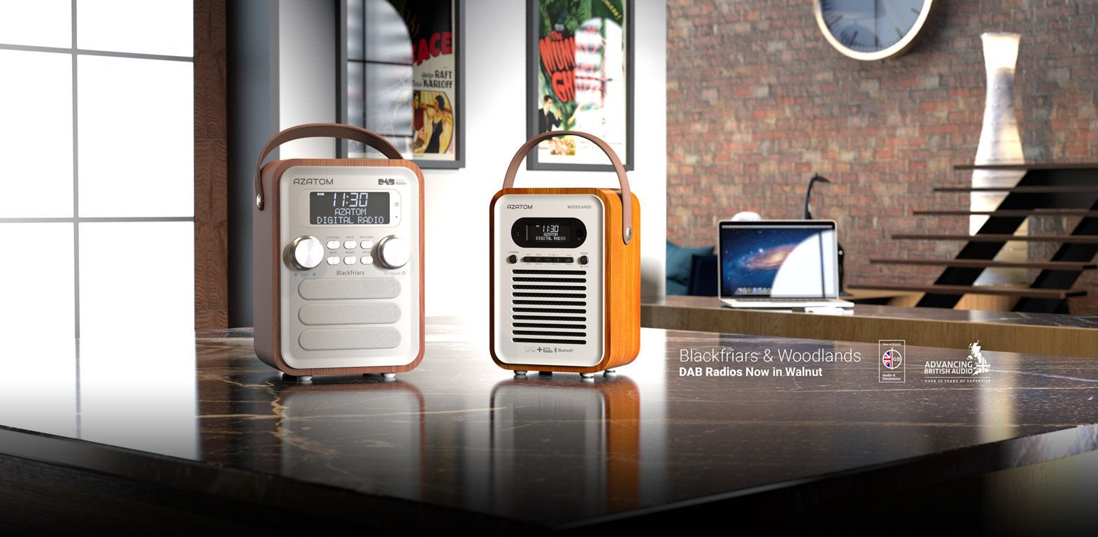 Blackfriars and Woodlands DAB Radios now in Walnut