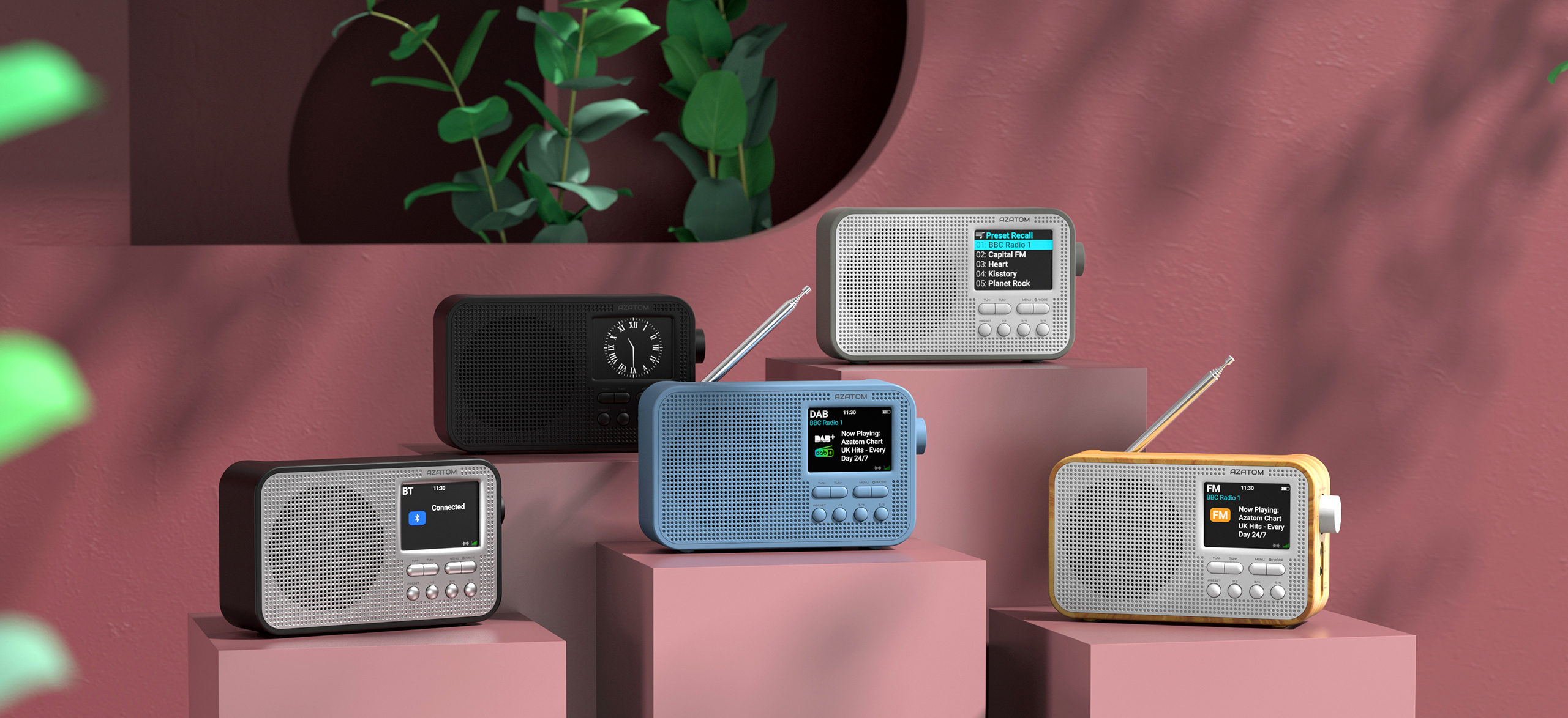 Aspire G1 Portable DAB+ Digital Radio with Bluetooth