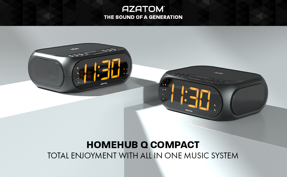 ALL ROUND RADIO ALARM AND WIRELESS CHARGER MUSIC SYSTEM